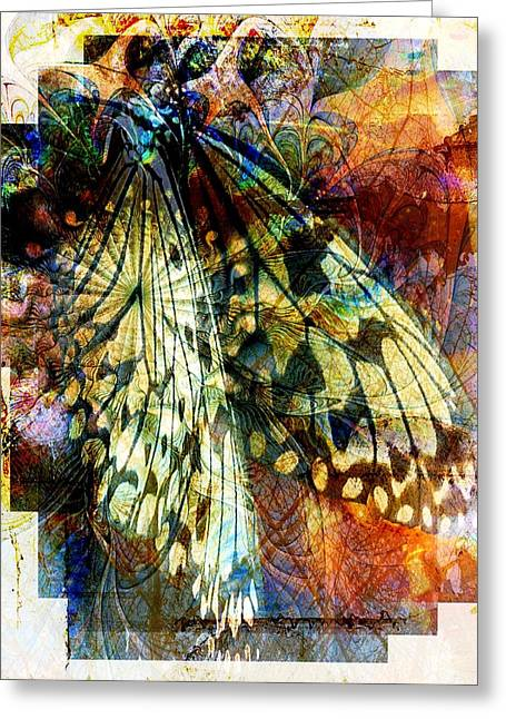 Digital Media Greeting Cards - Butterfly 3 Greeting Card by Amanda Moore