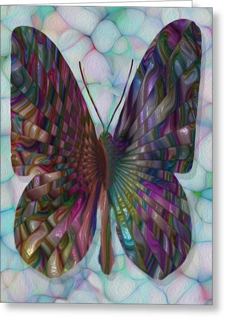 Warp Greeting Cards - Butterfly 3 Greeting Card by Jack Zulli