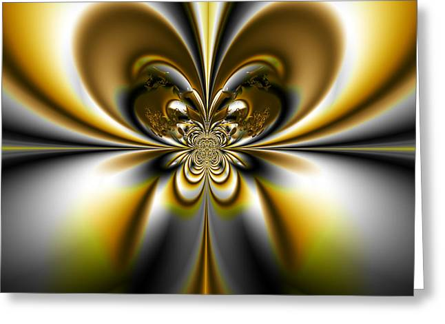 Manley Greeting Cards - Butterfly - A Fractal Design Greeting Card by Gina Lee Manley