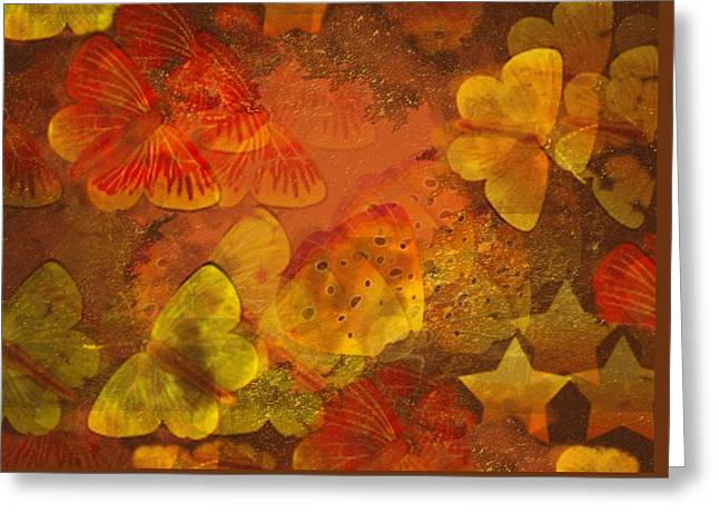 Butterfly Abstract 2 Greeting Card by David Dehner
