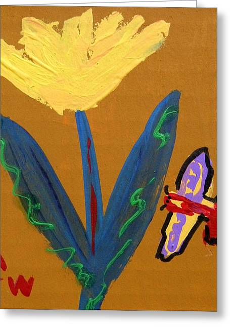 Visionary Artist Greeting Cards - Butterfly and Friend Greeting Card by Mary Carol Williams