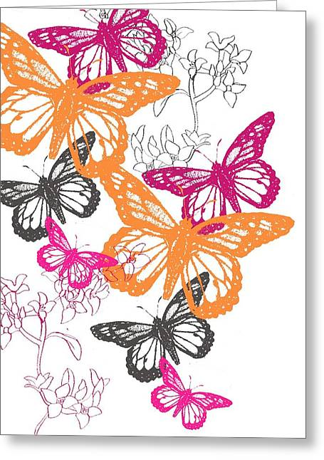 Decorative Greeting Cards - Butterfly Greeting Card by Anna Platts