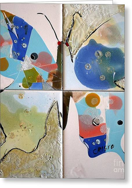 Abstract Ceramics Greeting Cards - Butterfly Greeting Card by Antonio  Cristo