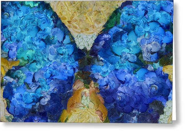 Blue Butterfly Greeting Cards - Butterfly Art - d11bb Greeting Card by Variance Collections