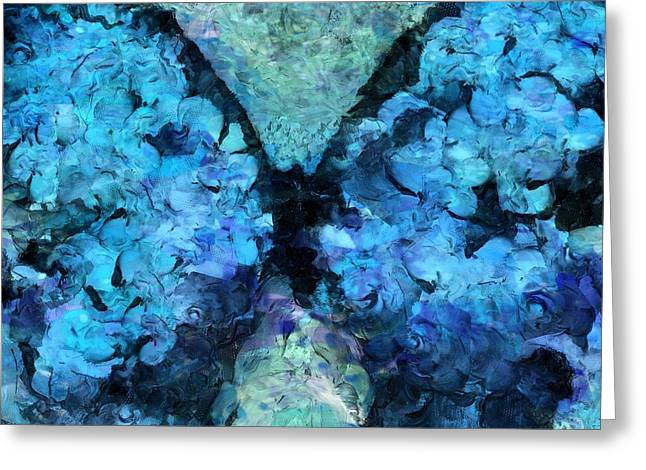 Blue Butterfly Greeting Cards - Butterfly Art - d11bl02t1c Greeting Card by Variance Collections