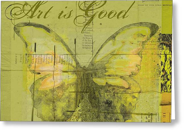 Square Format Greeting Cards - Butterfly Art - lgy0102a - Art is Good Greeting Card by Variance Collections