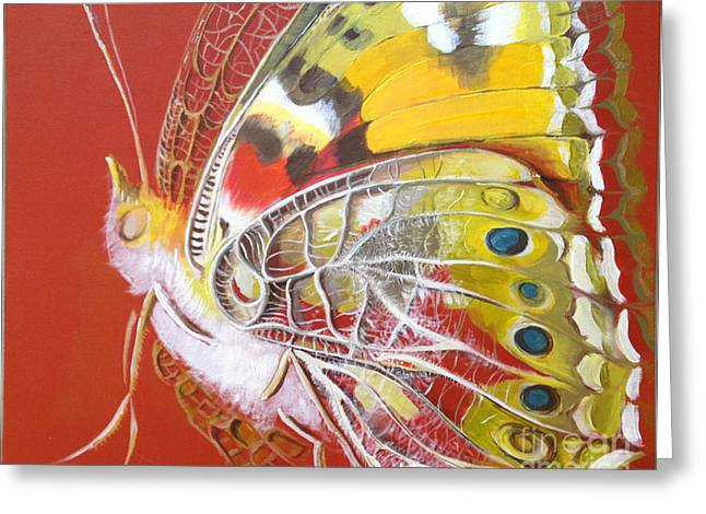 Decorativ Greeting Cards - Butterfly basic Greeting Card by Art Ina Pavelescu