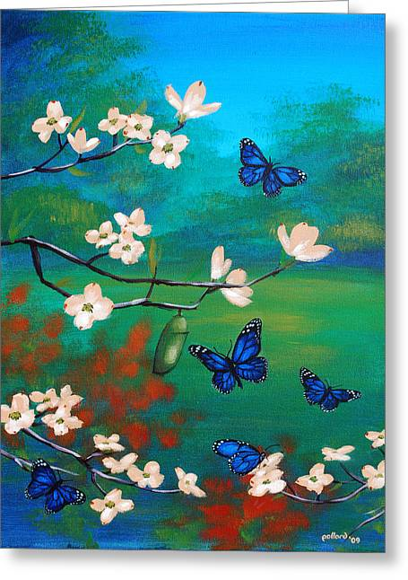 Butterlfy Greeting Cards - Butterfly Blue Greeting Card by Glenn Pollard