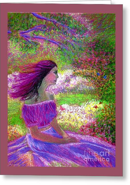 Butterfly Breezes Greeting Card by Jane Small