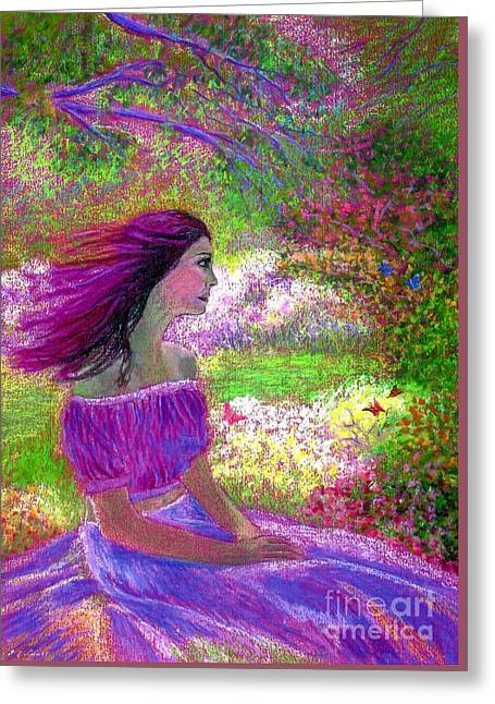 Purple Greeting Cards - Butterfly Breezes Greeting Card by Jane Small