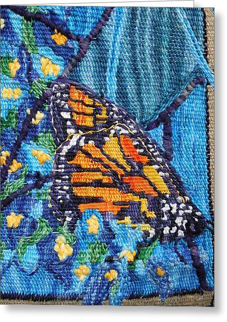 Christian Tapestries - Textiles Greeting Cards - Butterfly Close Up Greeting Card by Annelle Woggon