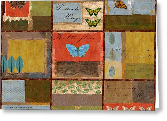 Butterflies Paintings Greeting Cards - Butterfly Collage Greeting Card by Paul Brent