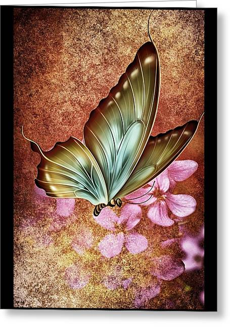 Amazing Sunset Mixed Media Greeting Cards - Butterfly Colors 2 Greeting Card by Todd and candice Dailey