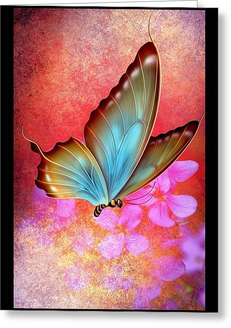 Amazing Sunset Mixed Media Greeting Cards - Butterfly Colors 3 Greeting Card by Todd and candice Dailey