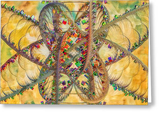 Generative Art Greeting Cards - Butterfly Concept Greeting Card by Deborah Benoit