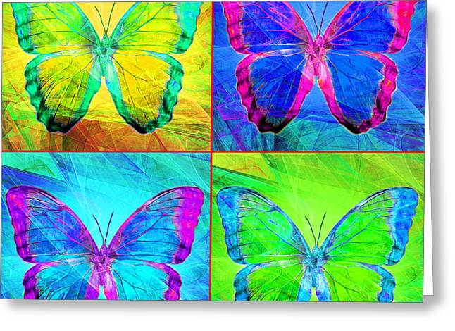Amazonian Art Greeting Cards - Butterfly DSC2969 four square Greeting Card by Wingsdomain Art and Photography