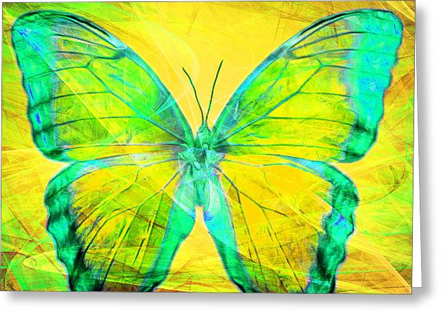 Amazonian Art Greeting Cards - Butterfly DSC2969m128 square Greeting Card by Wingsdomain Art and Photography