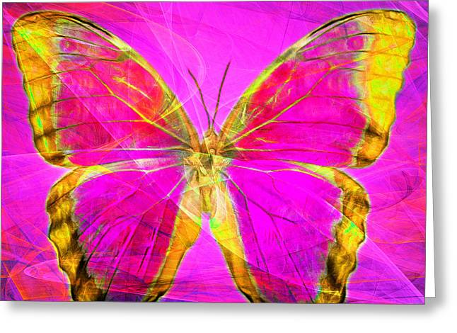 The Amazons Greeting Cards - Butterfly DSC2969p120 square Greeting Card by Wingsdomain Art and Photography