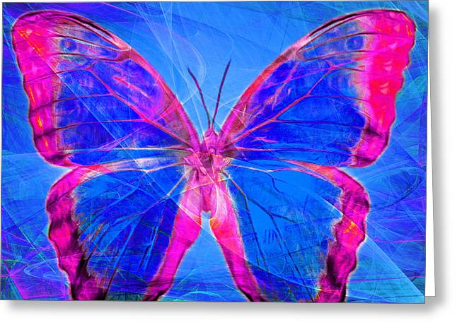 Amazonian Art Greeting Cards - Butterfly DSC2969p32 square Greeting Card by Wingsdomain Art and Photography