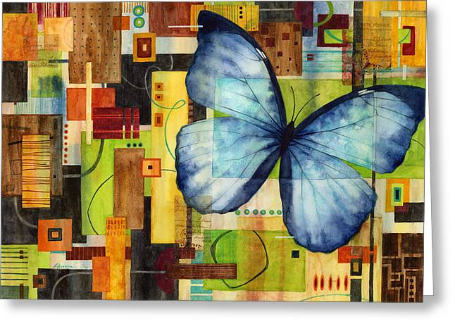 Butterflies Paintings Greeting Cards - Butterfly Effect Greeting Card by Hailey E Herrera