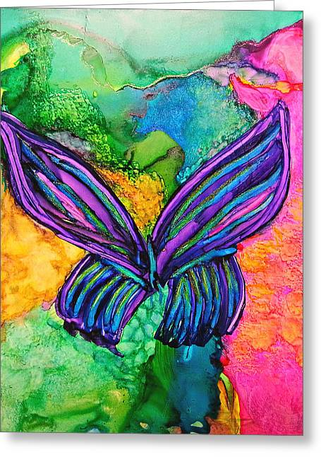 Prague Paintings Greeting Cards - Butterfly Effect Greeting Card by Kelly Dallas