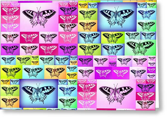 Images Of Woman Greeting Cards - Butterfly Empire Greeting Card by Cathy Jacobs