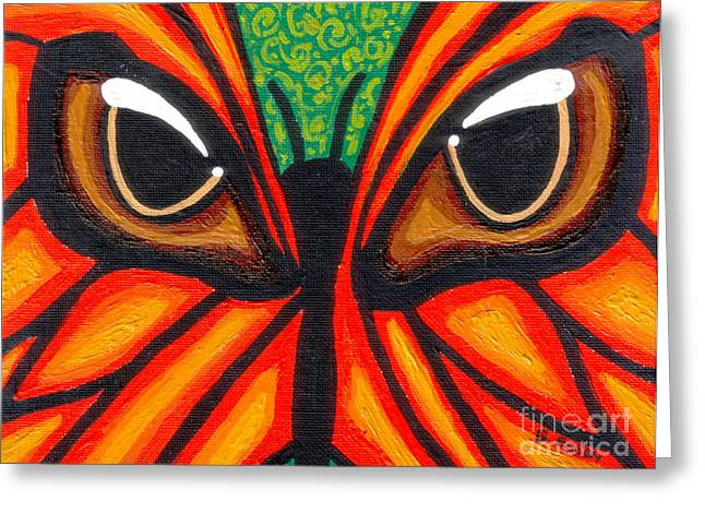 Print On Acrylic Greeting Cards - Butterfly Eyes Greeting Card by Genevieve Esson