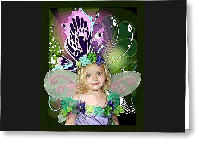 Butterfly Fairy Greeting Card by Ellen Henneke