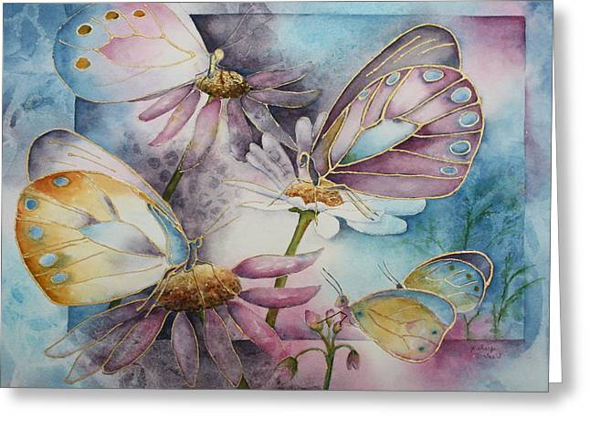 Patsy Sharpe Greeting Cards - Butterfly Garden Greeting Card by Patsy Sharpe