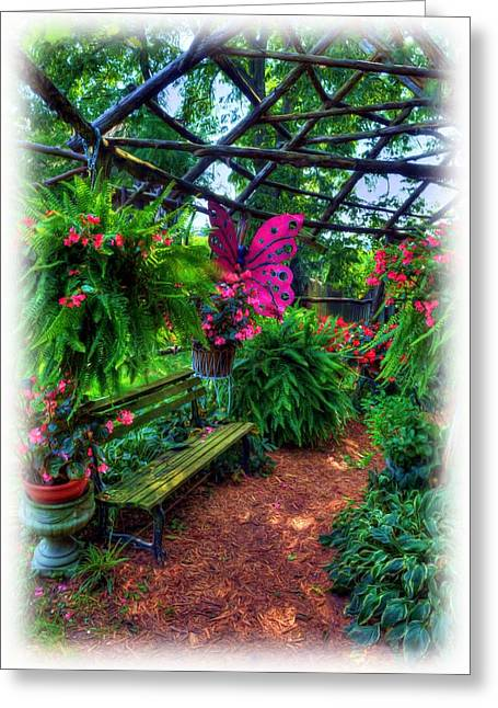 Indiana Art Greeting Cards - Butterfly Gardens Greeting Card by Mel Steinhauer
