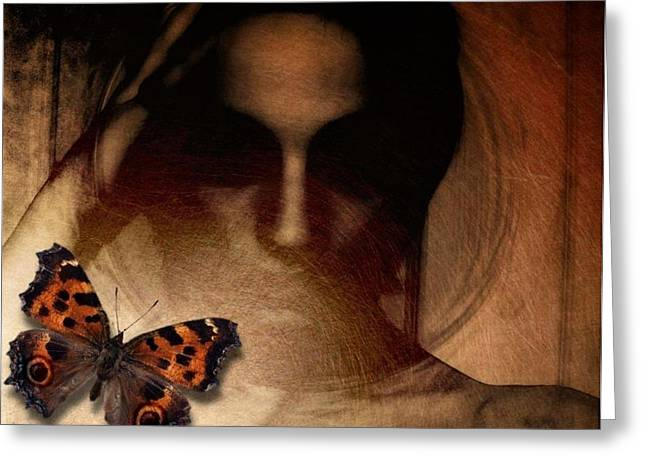 Blind Eyes Greeting Cards - Butterfly give me your eyes Greeting Card by Gun Legler