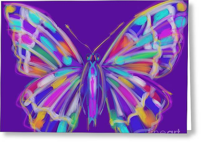 Modern Art Greeting Cards - Butterfly Greeting Card by Go Van Kampen