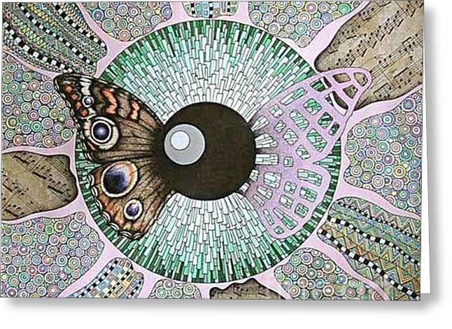 Oracular Greeting Cards - Butterfly Greeting Card by Grass Hopper