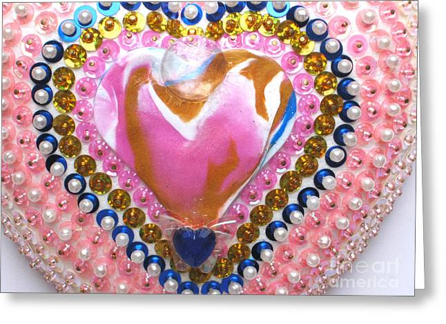 Shine Reliefs Greeting Cards - Butterfly-Heart detail Greeting Card by Heidi Sieber