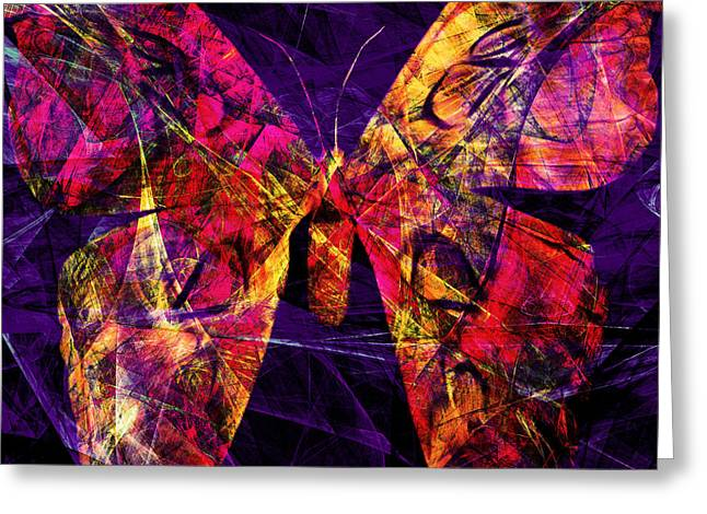 Butterfly In Abstract Dsc2977 Square Greeting Card by Wingsdomain Art and Photography