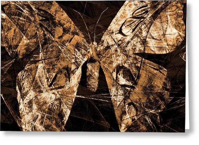 Butterfly In Abstract Dsc2977or Square Greeting Card by Wingsdomain Art and Photography