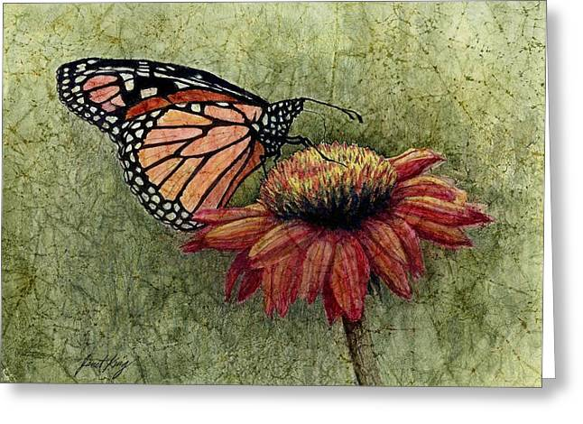 Janet King Greeting Cards - Butterfly in my garden Greeting Card by Janet King