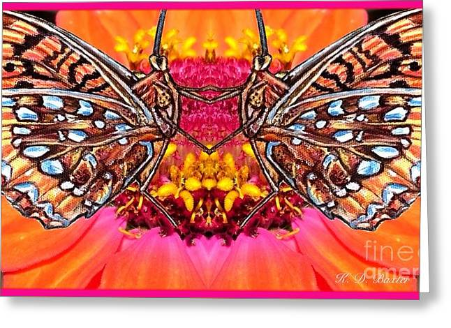 Butterfly Jig Greeting Card by Kimberlee Baxter