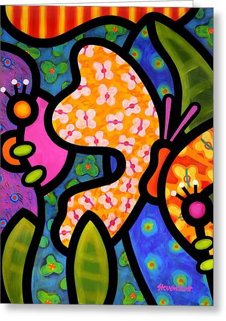 Butterfly Jungle Greeting Card by Steven Scott