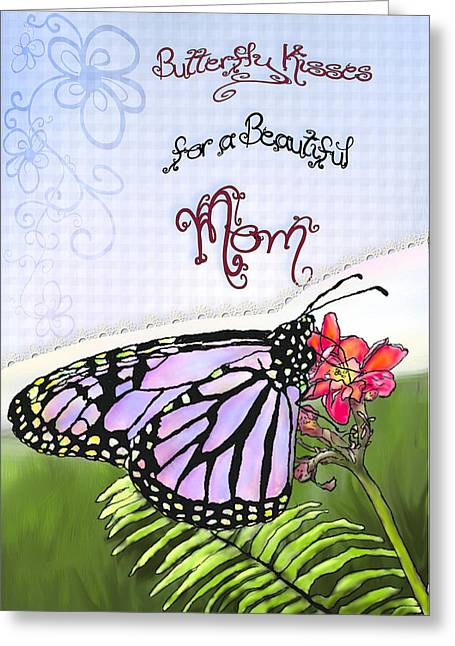 Montana Artist Greeting Cards - Butterfly Kisses Greeting Card by Susan Kinney