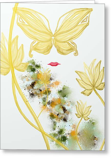 Mood Art Giclee Greeting Cards - Butterfly Greeting Card by Len YewHeng