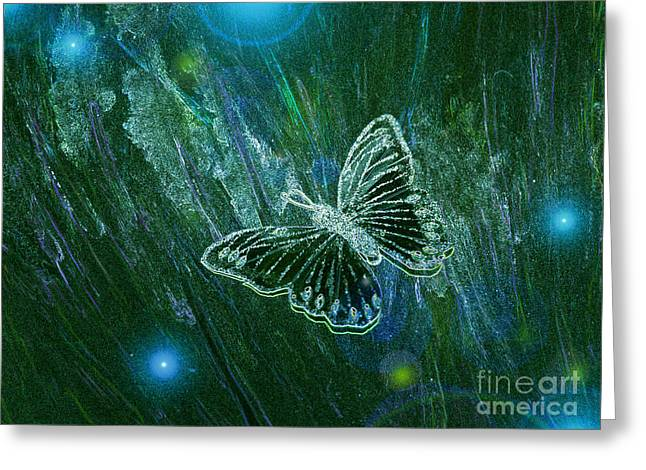 First Star Art Mixed Media Greeting Cards - Butterfly Magic by jrr Greeting Card by First Star Art