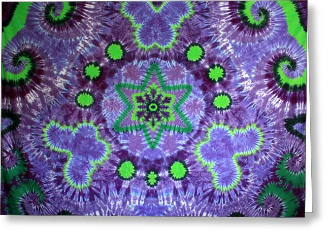 Butterfly Tapestries - Textiles Greeting Cards - Butterfly Mandala Greeting Card by Carl McClellan