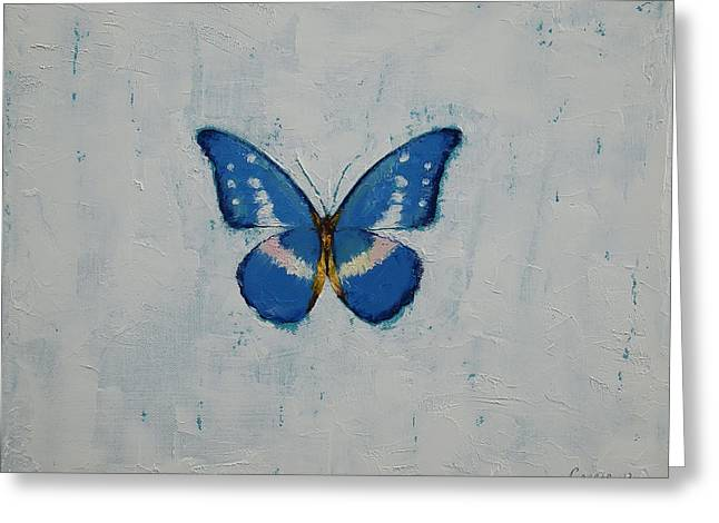 Butterfly Greeting Card by Michael Creese