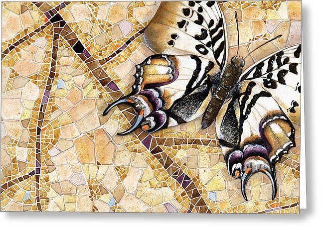Butterfly mosaic 01 Elena Yakubovich Greeting Card by Elena Yakubovich
