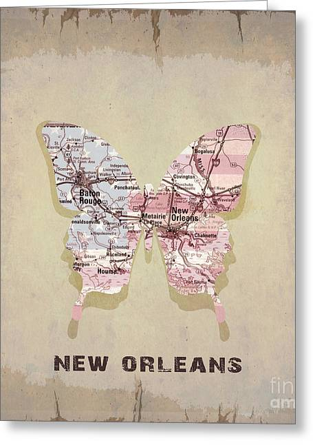 New Orleans Collection Greeting Cards - Butterfly New Orleans Greeting Card by Steffi Louis