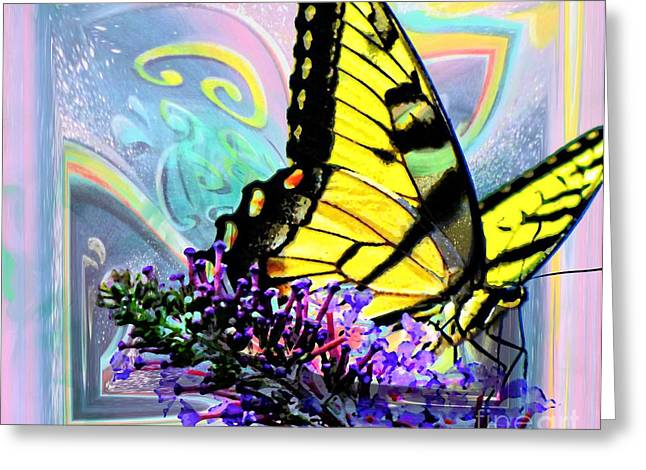 Butterlfy Greeting Cards - Butterfly Of Hope Greeting Card by Annie Zeno