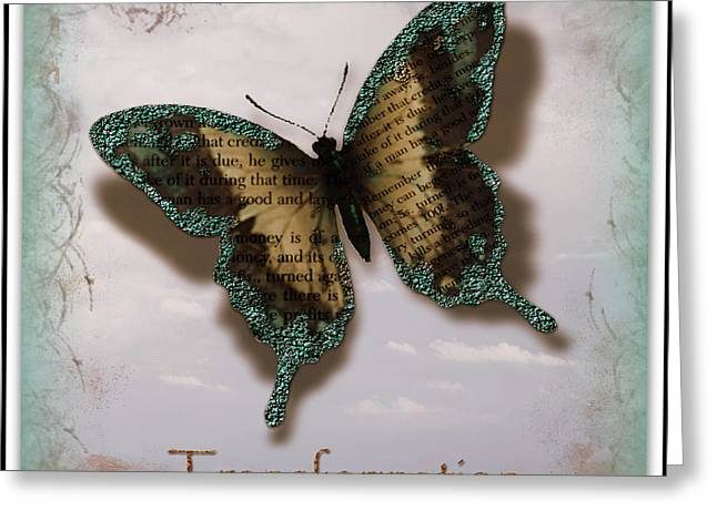 Matting Greeting Cards - Butterfly of Transformation Greeting Card by Bobbee Rickard