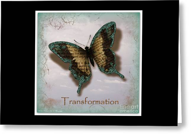 Butterfly Of Transformation Greeting Card by Bobbee Rickard