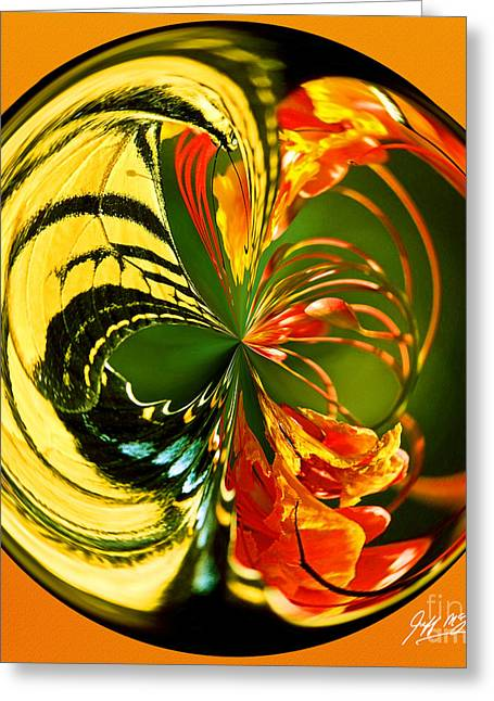 Fractal Orbs Greeting Cards - Butterfly Orb II Greeting Card by Jeff McJunkin